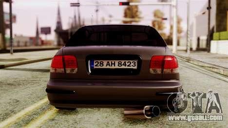 Honda Civic 1.6 for GTA San Andreas right view