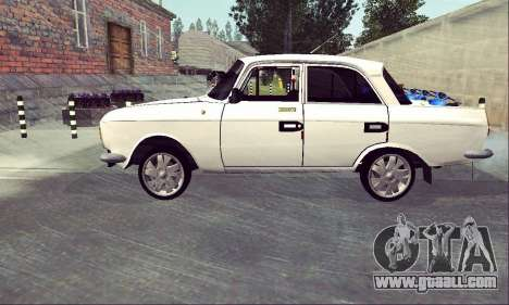 Moskvich 412 White Swallow for GTA San Andreas left view