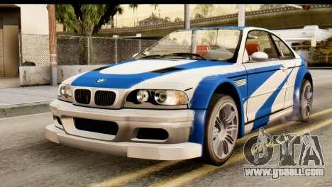 BMW M3 E46 GTR NFS MW for GTA San Andreas