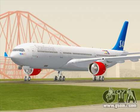 Airbus A330-300 Scandinavian Airlines for GTA San Andreas back view