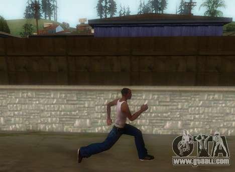 Realistic gait for GTA San Andreas third screenshot