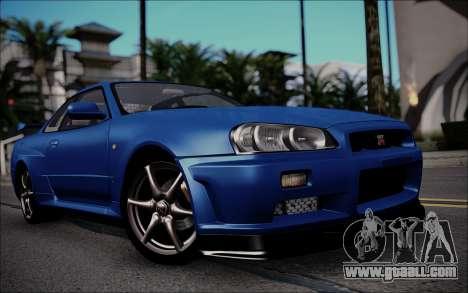 Nissan Skyline GT-R V Spec II 2002 for GTA San Andreas left view