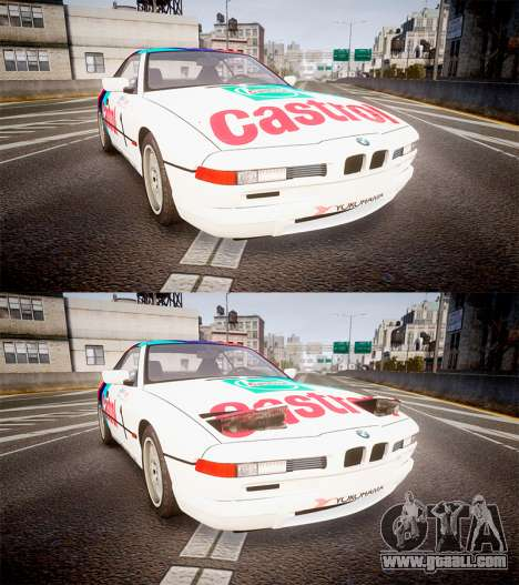 BMW E31 850CSi 1995 [EPM] Castrol White for GTA 4 side view