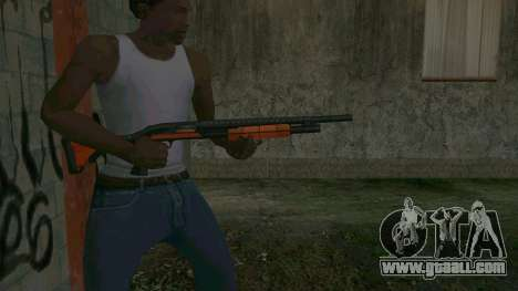 Orange Shotgun for GTA San Andreas third screenshot