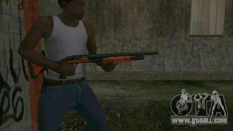 Orange Shotgun for GTA San Andreas third screenshot