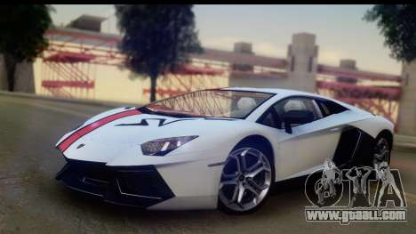 Lamborghini Aventador for GTA San Andreas back view