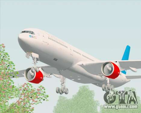 Airbus A330-300 Scandinavian Airlines for GTA San Andreas inner view