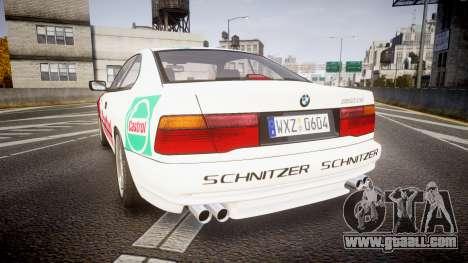 BMW E31 850CSi 1995 [EPM] Castrol White for GTA 4 back left view