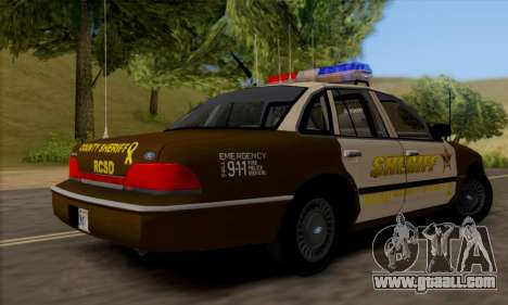 Ford Crown Victoria 1994 Sheriff for GTA San Andreas right view