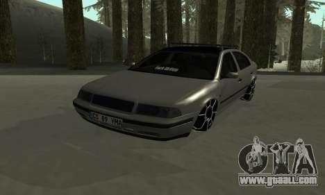 Skoda Octavia Winter Mode for GTA San Andreas bottom view