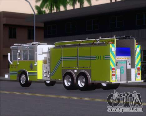 Pierce Quantum Miami Dade FD Tanker 6 for GTA San Andreas