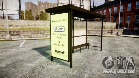 Advertising Windows 95 at bus stops for GTA 4 second screenshot
