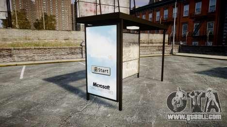 Advertising Windows 95 at bus stops for GTA 4 third screenshot