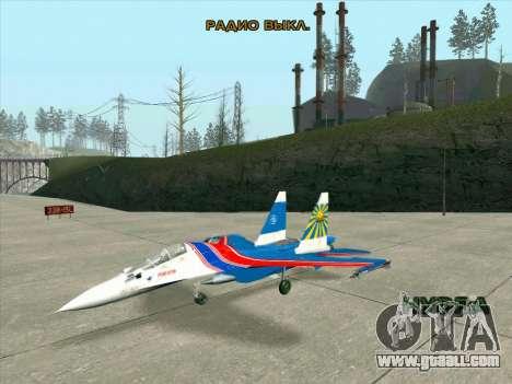 SU-30 MK 2 for GTA San Andreas left view