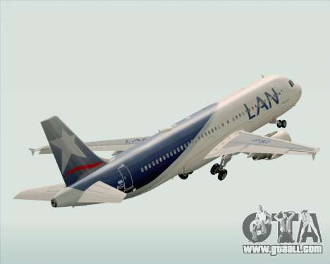 Airbus A320-200 LAN Argentina for GTA San Andreas upper view
