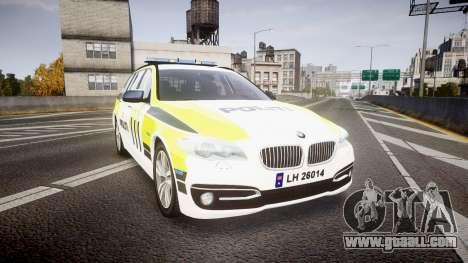 BMW 530d F11 Norwegian Police [ELS] for GTA 4