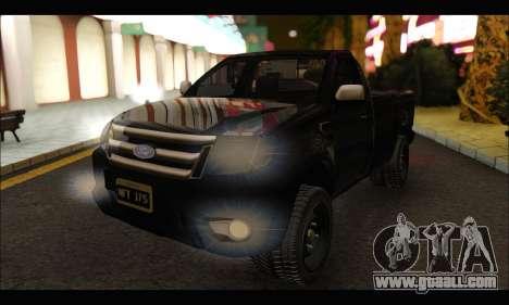 Ford Ranger Cabina Simple 2013 for GTA San Andreas