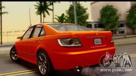GTA 5 Karin Asterope IVF for GTA San Andreas left view