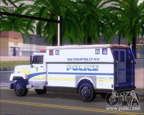 Enforcer Metropolitan Police for GTA San Andreas right view
