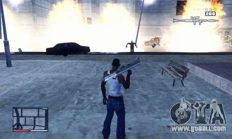C-HUD GTA 4 with Map for GTA San Andreas third screenshot