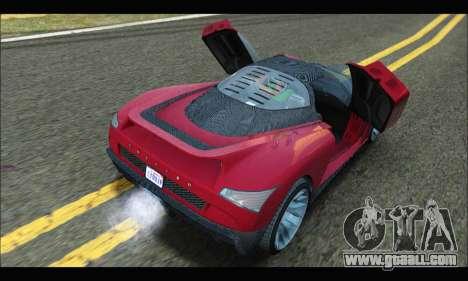 Grotti Cheetah v3 (GTA V) (SA Mobile) for GTA San Andreas right view