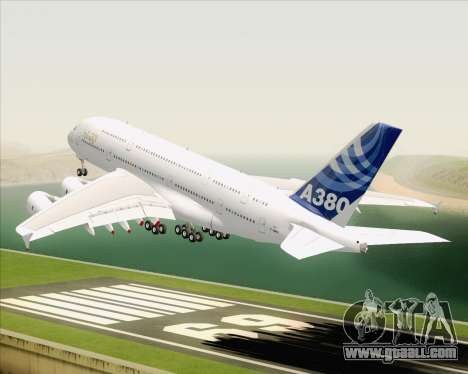 Airbus A380-800 F-WWDD Etihad Titles for GTA San Andreas interior