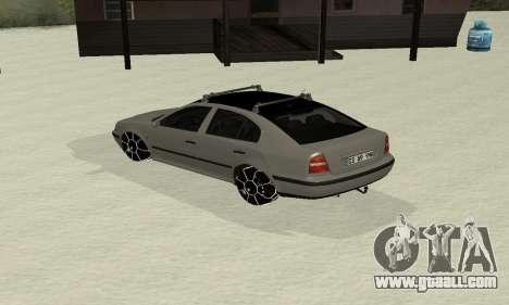 Skoda Octavia Winter Mode for GTA San Andreas back left view