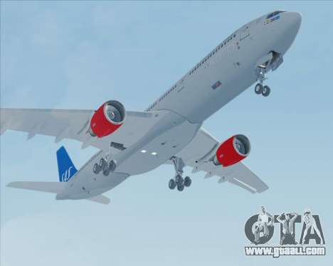 Airbus A330-300 Scandinavian Airlines for GTA San Andreas side view