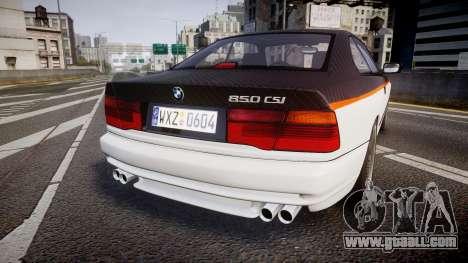 BMW E31 850CSi 1995 [EPM] Carbon for GTA 4 back left view