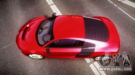 Audi R8 E-Tron 2014 for GTA 4 right view