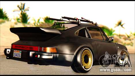 Porsche 911 1980 Winter Release for GTA San Andreas back left view