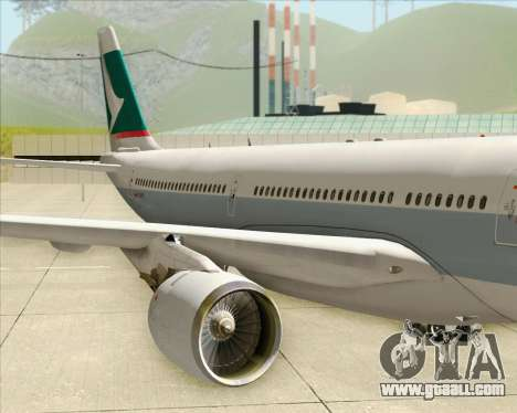 Airbus A330-300 Cathay Pacific for GTA San Andreas side view