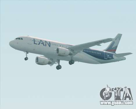 Airbus A320-200 LAN Argentina for GTA San Andreas back view