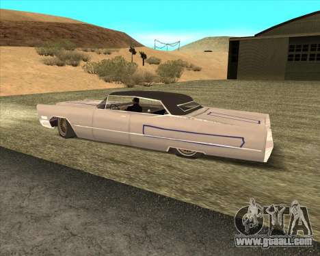 Cadillac DeVille Lowrider 1967 for GTA San Andreas inner view
