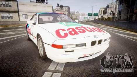 BMW E31 850CSi 1995 [EPM] Castrol White for GTA 4