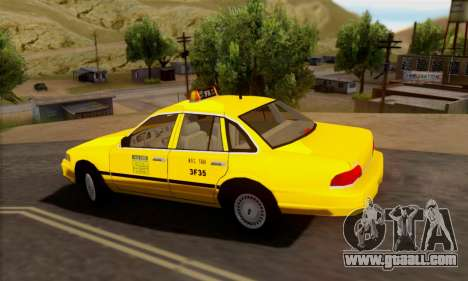 Ford Crown Victoria NY Taxi for GTA San Andreas back view