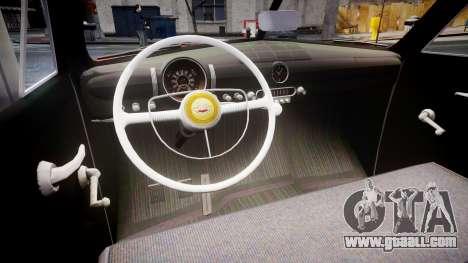 Ford Custom Tudor 1949 for GTA 4 inner view