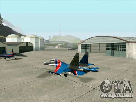 SU-30 MK 2 for GTA San Andreas back view