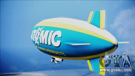 Blimp Atomic for GTA San Andreas left view