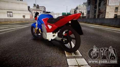 Honda Twister 2014 for GTA 4 back left view