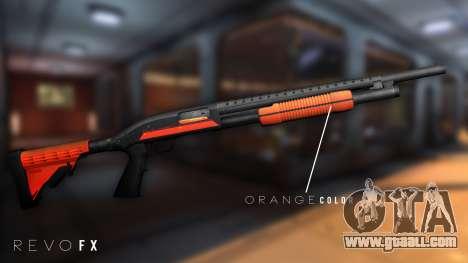 Orange Shotgun for GTA San Andreas second screenshot