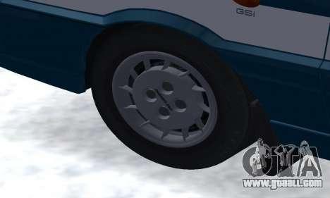 Daewoo-FSO Polonez Kombi 1.6 GSI Police 2000 for GTA San Andreas bottom view