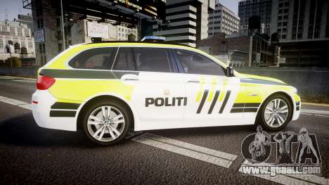 BMW 530d F11 Norwegian Police [ELS] for GTA 4 left view