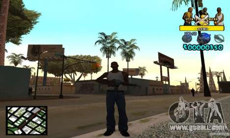 Tawer Getto HUD for GTA San Andreas second screenshot