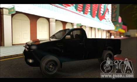 Ford Ranger Cabina Simple 2013 for GTA San Andreas left view