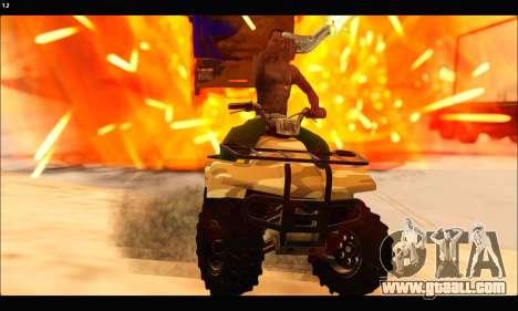 ATV Army Edition v.3 for GTA San Andreas inner view