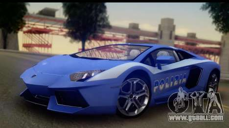 Lamborghini Aventador for GTA San Andreas upper view