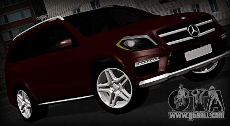 Mercedes GL500 for GTA San Andreas back left view