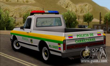 Chevrolet C10 1972 Policia for GTA San Andreas left view