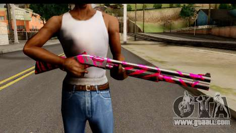 Red Tiger Shotgun for GTA San Andreas third screenshot